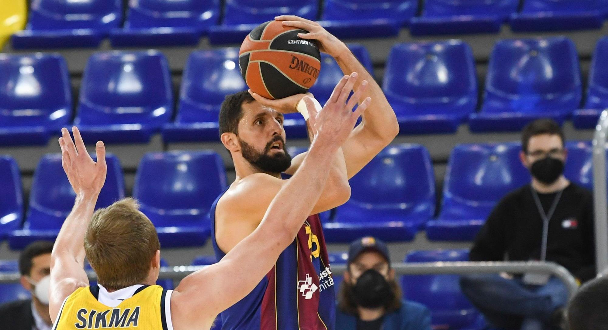 Mirotic noqueja l'Alba i el Barça s'assegura el factor pista